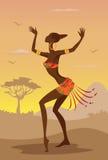 Wektorowa ilustracja Afrykańska kobieta Fotografia Royalty Free