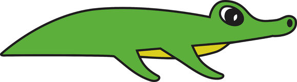 Wektorowa ilustracja aligator Obrazy Stock