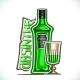 Wektorowa ilustracja alkoholu napoju absynt royalty ilustracja