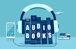 Wektorowa ilustracja audio rezerwuje pojęcie ilustracja wektor