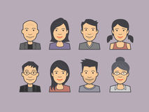 Wektorowa ilustracja avatar stawia czoło, charaktery, ludzie ikon ilustracja wektor