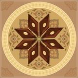 Wektorowa ilustracja baklava na round talerzu z tradycyjnym wzorem Fotografia Royalty Free
