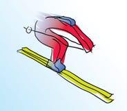 Wektorowa ilustracja barwiona narciarka Ilustracja Wektor
