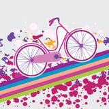 Ilustracja bicykl Obrazy Royalty Free