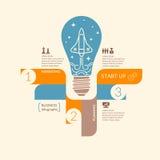 Wektorowa ilustracja biznesowy infographic Obrazy Royalty Free