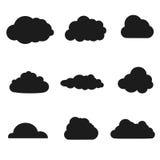 Wektorowa ilustracja chmury inkasowe Obrazy Royalty Free