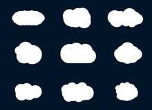 Wektorowa ilustracja chmury inkasowe Obrazy Stock