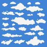 Wektorowa ilustracja chmury kolekci ustalony błękit Fotografia Royalty Free