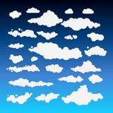 Wektorowa ilustracja chmury kolekci ustalony błękit Fotografia Stock