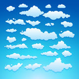 Wektorowa ilustracja chmury kolekci ustalony błękit Zdjęcia Stock