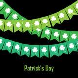 Wektorowa ilustracja chorągiewka z koniczyną na zielonym tle Zdjęcie Royalty Free