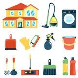 Wektorowa ilustracja cleaning ikon koloru set Obraz Royalty Free