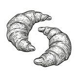 Wektorowa ilustracja croissants Obraz Royalty Free