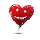 Wektorowa ilustracja czerwoni serca malował w akwareli ilustracja wektor