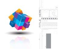 Wektorowa ilustracja 3d colourful sześciany ilustracja wektor