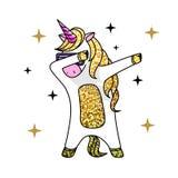 Wektorowa ilustracja dabbing końskiej jednorożec fantazja royalty ilustracja