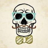 Wektorowa ilustracja dekoracyjna czaszka Obraz Stock