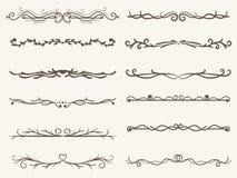 Wektorowa ilustracja dekoracyjna kąt rama i linia set ilustracji