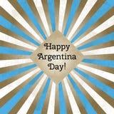 Wektorowa ilustracja dla dnia Argentyna, retro stylowy kartka z pozdrowieniami Projektuje szablon dla plakata, sztandar, flayer ilustracji