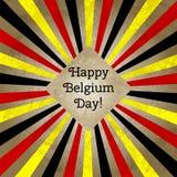 Wektorowa ilustracja dla dnia Belgia, retro stylowy kartka z pozdrowieniami, sieć Projektuje szablon dla plakata, sztandar, flaye ilustracji