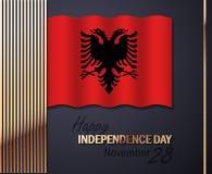 Wektorowa ilustracja dla dnia niepodległości Albania ilustracji
