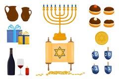 Wektorowa ilustracja dla Hanukkah jest dużym Żydowskim wakacje ilustracji