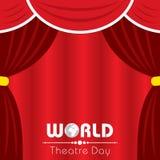 Wektorowa ilustracja dla Światowego Theatre dnia projekta Zdjęcie Stock
