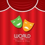 Wektorowa ilustracja dla Światowego Theatre dnia projekta Obrazy Stock