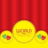 Wektorowa ilustracja dla Światowego Theatre dnia projekta Zdjęcia Royalty Free
