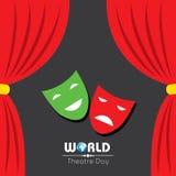 Wektorowa ilustracja dla Światowego Theatre dnia projekta Zdjęcie Royalty Free