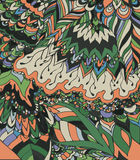 Wektorowa ilustracja doodle rysunek Abstrakt linie, krzywy Fotografia Royalty Free