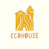 Wektorowa ilustracja drewniany ecohouse ilustracja wektor