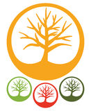 Drzewo - Prosta ikona Zdjęcie Stock
