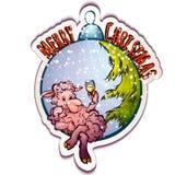 Wektorowa ilustracja drzewo zabawka z śmiesznym Obrazy Royalty Free