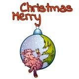 Wektorowa ilustracja drzewo zabawka z śmiesznym Zdjęcia Stock