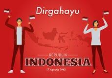 Wektorowa ilustracja dzień niepodległości republika Indonezja ilustracja wektor