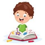 Wektorowa ilustracja dzieciak kolorystyki książka royalty ilustracja