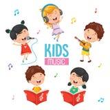 Wektorowa ilustracja dzieciaki Bawić się muzykę ilustracja wektor