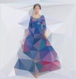 Wektorowa ilustracja dziewczyna w sukni Zdjęcie Stock