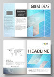 Wektorowa ilustracja editable układ dwa A4 formata nowożytnego okładkowego mockups projektuje szablony dla broszurki ilustracji