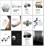 Wektorowa ilustracja editable układ A4 formata pokrywy projektuje szablony dla broszurki, magazyn, ulotka ilustracji