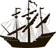 Wektorowa ilustracja żeglowanie statek Zdjęcie Royalty Free