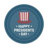 Wektorowa ilustracja elegancki tekst dla Szczęśliwych prezydentów dni Obraz Stock