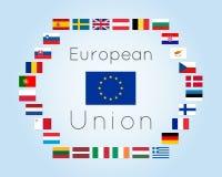 Wektorowa ilustracja Europejskiego zjednoczenia krajów flaga ilustracja wektor