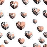 Wektorowa ilustracja fala textured serca bezszwowego tło Zdjęcie Stock