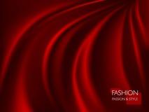 Wektorowa ilustracja gładka elegancka luksusowa czerwona jedwabiu lub atłasu tekstura Może używać jako tło Zdjęcia Stock