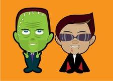 Wektorowa ilustracja Halloweenowy potwora kostium Obraz Royalty Free