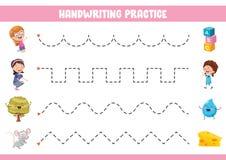 Wektorowa ilustracja Handwriting ćwiczenie ilustracji