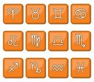 Horoskop ikony znak Fotografia Royalty Free