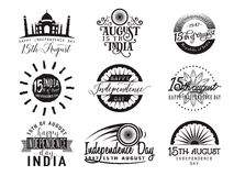 Wektorowa ilustracja India dzień niepodległości Felicitation 15th august Zdjęcia Royalty Free